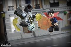 Doctor Strange vs. Ebony Maw (WattyBricks) Tags: lego marvel superheroes 76108 mcu avengers infinity war doctor stephen strange ebony maw sanctum sanctorum bleecker street nyc