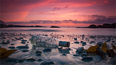 Sunset at Gimsøy - Lofoten (Frank S. Andreassen) Tags: sunset lofoten beach norway nordnorge nature northern bottle clouds coast colorful sky norge nordland landscape