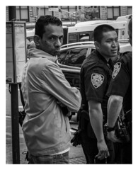 (mikeangol) Tags: harlem newyorkcity blackandwhite monochrome people candid dramatic expressions faces uptown vibe street