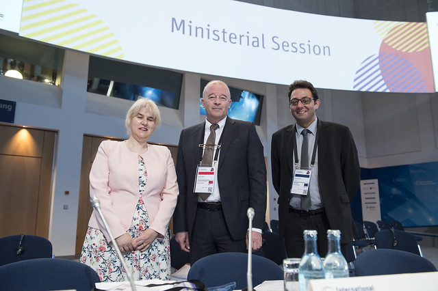 Angel Popov and the Bulgarian delegation at the Closed Ministerial