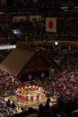 Sumo Ring Entrance 相撲 (runslikethewind83) Tags: sumo japan tokyo sport wrestlers japanese asian 相撲 力士 rikishi