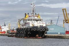 MV BRITOIL 120 (fordgt4040) Tags: coastal nikon nikond750 nikkorlens vessel ship boat anchored moored berthed alongside nautical motorvessel digitalcamera workboat tugboat leith albertdock firthofforth mvbritoil120 eastcoast scotland