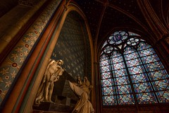 death comes ripping (primemundo) Tags: dogwood dogwood2018 ruleofspace composition church notredame death statues stainedglass arches coffin
