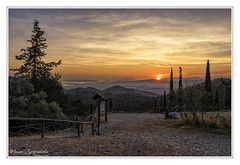 Sunset at Taxiarches Hill (MάNoS) Tags: sunset landscape forest mountain tree sky nikon d5300 hymettus saariysqualitypictures hdr