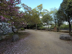 Nino vE _orig_LG (Hazbones) Tags: iwakuni yamaguchi yokoyama castle kikkawa suo chugoku mori honmaru ninomaru demaru wall armor samurai spear teppo gun matchlock map ropeway