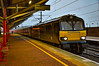 92010 - Rugby - 12/04/18. (TRphotography04) Tags: caledonian sleeper liveried 92010 speeds through rugby working 1m16 2045 inverness fort william aberdeen london euston