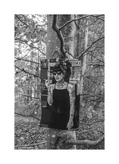 Holloway Tattoo in the woods © (wpnewington) Tags: tattoos tattoo trees monochrome bw forest girl