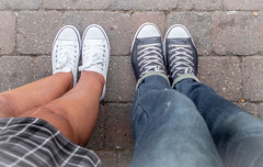 Converse together. (CWhatPhotos) Tags: cwhatphotos olympus em10 mk ii foot wear black ox shoes camera photographs photograph pics pictures pic picture image images foto fotos photography artistic that have which contain all star allstar converse chuck chucks allstarhi leather high boot shoe white hitop hitops hi top tops logo product badge allstars stars unisex man woman mens womans