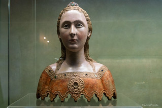 Unknown Sienese sculptor: Reliquary bust of one of the eleven thousand Virgins of Cologne, end of the 14th century