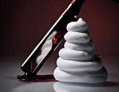 Sweeney Todd's morning ablution (johnsinclair8888) Tags: foam shave macro red blade cream d750 nikon 105mm johndavis blood readyfortheday macromondays sliderssunday sweeneytodd barber