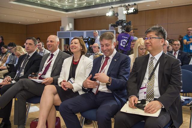 Kaspars Ozolins, Ambassador Inga Skukina, Uldis Augulis and Young Tae Kim attending