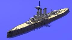 HMIS Steel Prince (GBDanny96) Tags: lego moc hmis steel prince hms iron duke battleship dreadnought world war 1 ww1 warship military navy