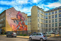 Child with Seagull (JuliSonne) Tags: scene streetart urban pasteup stencil street berlin muralfestivalberlin mural telmomiel jamesbullough childwithseagull