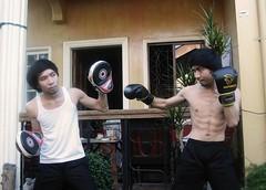Train Yourself (Jimcen Bagsik) Tags: art photography philippines dumaguetecity dumagetme photoshop adobephotoshop photomanipulation digitalart jimcenbagsik jimcen boxing boxinggloves mits abs fitness twins