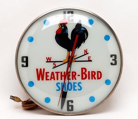 Weather-Bird Shoes Advertising Clock ($560.00)