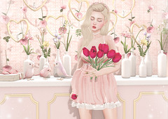 Bloom (Gabriella Marshdevil ~ Trying to catch up!) Tags: sl secondlife cute kawaii doll blogger search taketomi enfersombre epiphany catwa pastel mossmink dami belleposes halfdeer