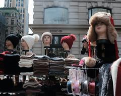 Hat Street Vendor (Zach K) Tags: hats for sale street vendor table midtown bryant park area warm caps display mannequin fujifilm fuji x100f wclx100 cold winter sales