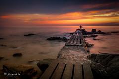 Malvín's Fisherman (Luis Sousa Lobo) Tags: img0375 malvín ohiggins rambla beach mar plata canon 70d 1018 montevideo uruguai uruguay sunset entardecer
