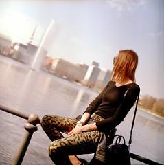 Isa (Ankh61) Tags: girl model woman beautiful hamburg vacation water kiev 88 portra 400