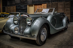 LAGONDA V12 DROPHEAD COUPE CONVERTIBLE (Peter's HDR hobby pictures) Tags: petershdrstudio hdr lagonda classiccar car oldtimer convertible cabriolet pkw auto silver silber classicremise old