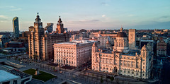 the three graces (paul hitchmough photography 2) Tags: paulhitchmoughphotography pierhead liverbirds liverpoolskyline thethreegraces skyline architecture aerialphotography dronephotography dji mavicair rivermersey uk