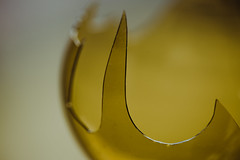 jaGGed eDge... (Jess Feldon) Tags: hmm depth dof macromondays jagged macro colourfusion colour yellow mellowyellow sharp jessfeldon glass edge