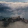 Le château dans le ciel (Rollerphilc) Tags: canon paysage brume village château église provence verdon