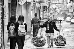 0748 Healthy Food ... Not For The Spine (Hrvoje Simich - gaZZda) Tags: city street people man work school monochrome blackwhite food kathmandu nepal asia nikon nikond750 nikkor283003556 gazzda hrvojesimich