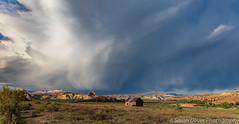 When the sky looks like the ocean... (sarahOphoto) Tags: cannonville utah rock red usa united states america sky dramatic countryside cloudscape landscape nature weather bryce canyon kodachrome basin state park canon 6d barn road view