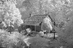 Heritage Park Cabin IR (Neal3K) Tags: henrycountyga georgia heritagepark mcdonoughga ir infraredcamera kolarivisionmodifiedcamera