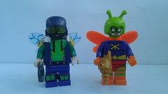 #1 custom vs official (jooshfigs) Tags: killermoth lego legocustom minifigures jooshfigs dc comicbook