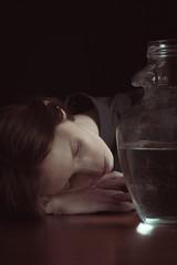 Plunged (portraitsbyandreapi) Tags: girl ragazza model studio water reflection blue lowkey octabox nikon lady nikkor natural europe dof retrato portrait