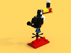 Render03 (LegoOri) Tags: lego toy toys construction toucan guinness beer stout weathervane bird rooftop
