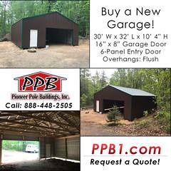 Buy a New Garage! (pioneerpolebuildings) Tags: buy a new garage brown pole building ivy