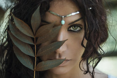 Potion (Enrico Cavallarin) Tags: eye leaves leaf nature emotional woods forest girl portrait portraiture people dark underwood arabian egyptian egypt italy africa magic nikon