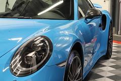 Porsche 991 Turbo S mk2 Bleu Miami - Film de protection Xpel Ultimate et traitement céramique (Detailing Studio) Tags: detailing studio lyon porsche 991 turbo s mk2 bleu miami film protection xpel ultimate cire céramique nanotechnologie lavage décontamination polissage