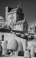 D7K_9328-Pano: Drummond Castle, Scotland in infrared (Colin McIntosh) Tags: nikon d7100 85mm h f18 ais manualfocus drummondcastle strathearn ir kolari 720nmfilter manualfocuslens