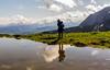 Au grand air... (J&S.) Tags: france hautesavoie montsaxonnex cénise montagne mare reflet nuage