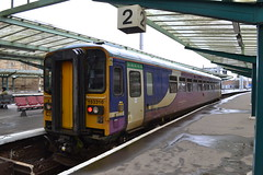 Northern Super Sprinter 153316 (Will Swain) Tags: carlisle station 3rd february 2018 northern super sprinter 153316 class 153 316 north west cumbria town train trains rail railway railways transport travel uk britain vehicle vehicles country england english