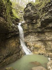 RED02896 (David J. Thomas) Tags: caves caving hiking speleology class students lostvalley edenfalls naturalbridge cobcave edenfallscave waterfall creek stream karst ponca arkansas lyoncollege