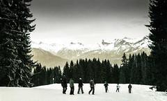 Combloux 02 2018021 (Patrick.Raymond (5M views)) Tags: alpes haute savoie megeve comloux montagne neige froid gel bois arbre foret argentique nikon lomography turquoise