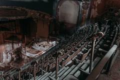 The weird handles (Explored) (rantropolis) Tags: abandoned theatre theater abandonedtheatre abandonedtheater urbex urbanexploration travel nikon d750 widelens primelens proctor seats rotten handles