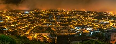 Quito on a cloudy morning (reinaroundtheglobe) Tags: quito ecuador cityscape city panorama night nightphotography illuminated nopeople longexposure