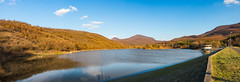 artifical lake... (keriarpi) Tags: artifical lake water pound matra hungary grass pano panorama sunset