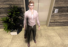 Office Vibes (EnviouSLAY) Tags: deadwool coldash cold ash modulus belleza bento lelutka blankline boots leather brown chinos green pink businesscasual business casual office elevator scene secondlifefashion secondlifephotography glasses blond watch noir newreleases new releases tmd fameshed themensdepartment the mens department pale male gay blogger secondlife second life fashion photography mensmonthly mensfair mensfashion mensevent monthlymen monthlyevent monthlyfashion monthlyfair monthly event fair groupgift group gift