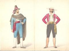 Herrer delvist spanske (Rigsarkivet - Danish National Archives) Tags: costumes drawing theatre aquarel teater kostumer kostumetegninger