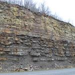 Berea Sandstone on KY 10 near Garrison, Kentucky thumbnail