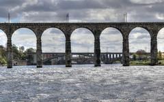 The Royal Border Bridge, Berwick-upon-Tweed (robin denton) Tags: tweed rivertweed river bridge railbridge railway royalborderbridge hdr rnbtweed berwick berwickupontweed tweedmouth viaduct
