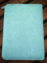 Blue leather folder (almafication) Tags: journaling journal folder leather