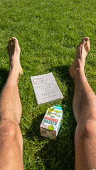 Auf dem Rasen liegen mit Buch und Kokosnusswasser (marcoverch) Tags: köln nordrheinwestfalen deutschland de rasen liegen buch kokosnusswasser grass gras people menschen man mann outdoors drausen woman frau nature natur hand conceptual konzeptionell summer sommer foot fus landscape landschaft relaxation entspannung business geschäft adult erwachsene environment umgebung human mensch young jung aid hilfe person child kind colours candid bluesky boats bike shop england pose children restaurant